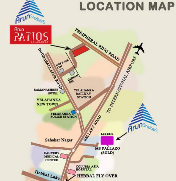 Photo - Arun Shelters Patios Location Map